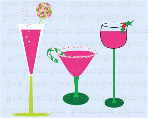 christmas martini clip christmas clip art christmas digital clipart