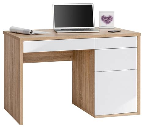 white oak desk maja club oak white computer desk