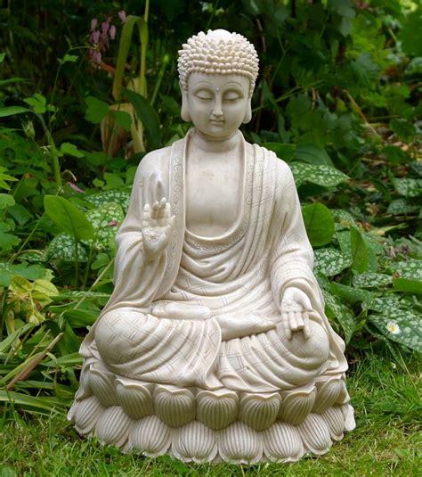 Buddha Garden Statue by Sitting Thai Buddha Garden Statue
