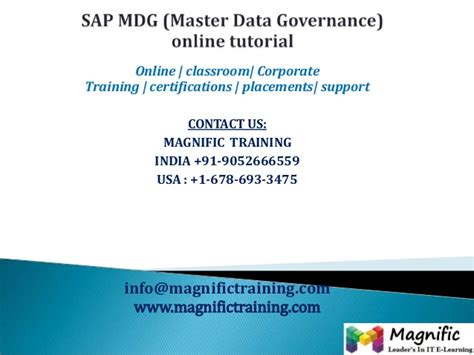 Online Tutorial Net | sap mdg master data governance online tutorial