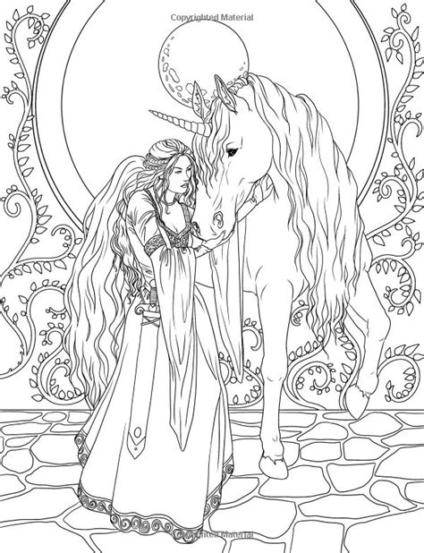 fairy unicorn coloring page enchanted magical forests coloring book volume 3