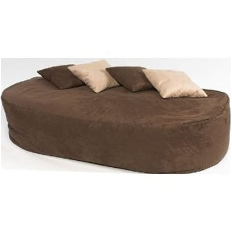 l 16cu ft faux suede beanbag bed bean bag sofa