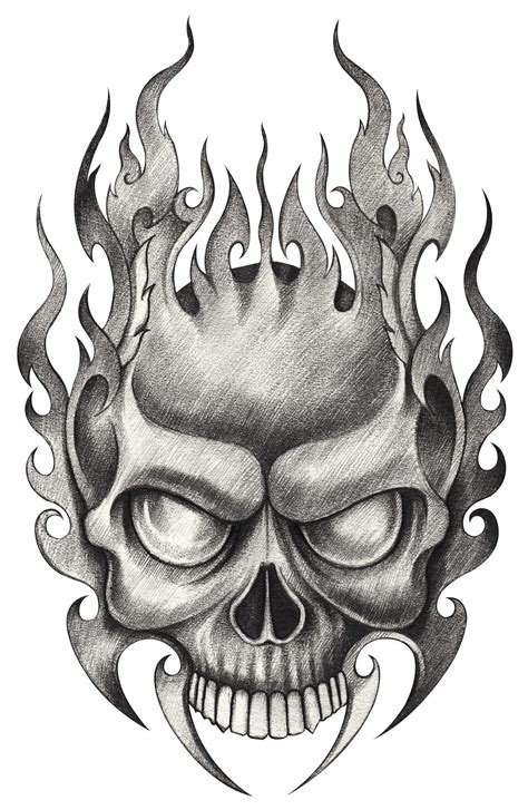 pencil drawings of tattoo designs skull tattoos for