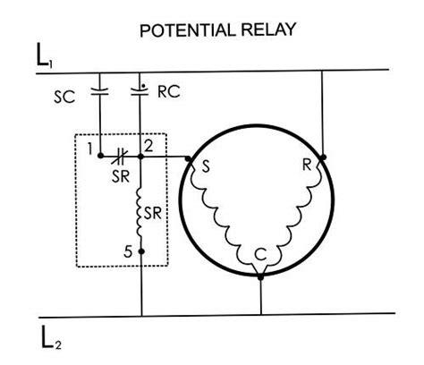 capacitor wiring diagram hvac get free image about
