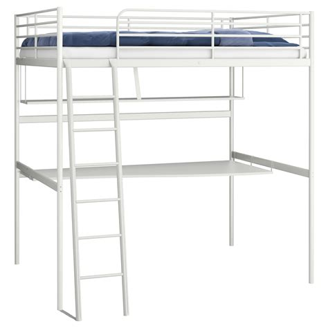 Bunk Bed Frame Ikea Home Design Ikea Svarta Loft Bed Frame With Desk 7500 Picclick Uk Throughout 93 Interesting