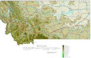 Maps Of Montana by Montana Contour Map