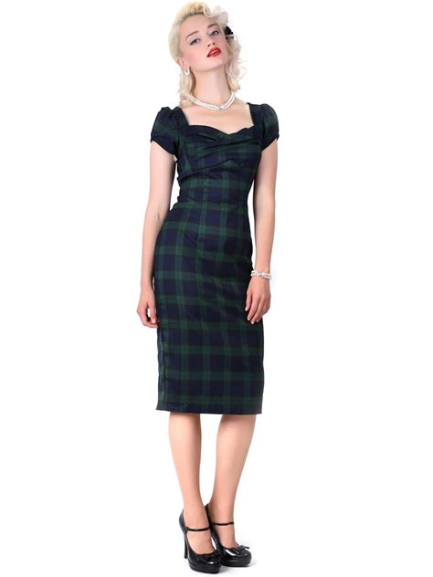 Check Dress collectif rizzo blackwatch check dress all the dresses