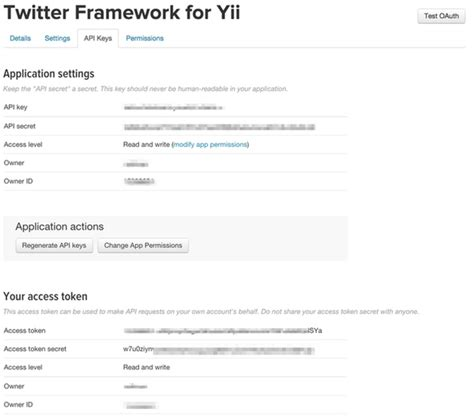 yii hoauth tutorial building with the twitter api getting started