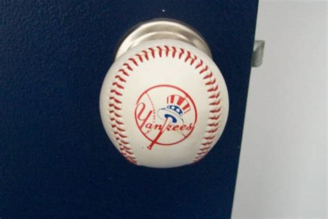 team logo baseball doorknobs made with a genuine rawlings