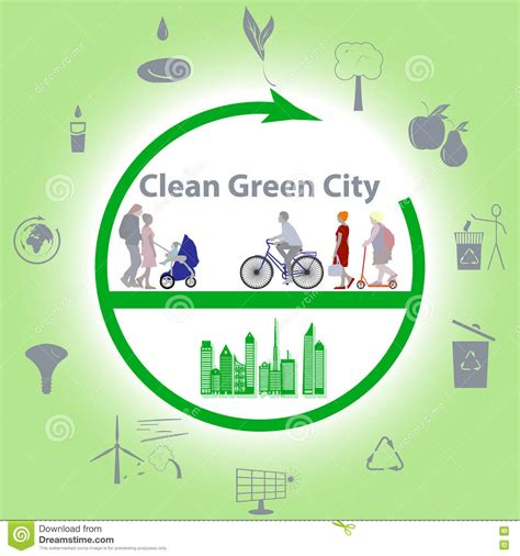 Clean Green City Essay by Clean Green City Stock Illustration Image 73462434