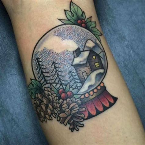 these bright snow globe tattoos 15 superlative designs sheideas