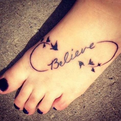 tattoo infinity believe love life infinity tattoo on girl right foot