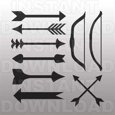 templates for vinyl cutters bows and arrows svg file cutting template clip art for