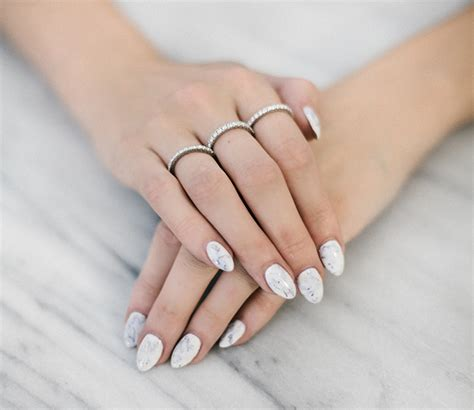 Polish Home Decor white marble nails carly cristman