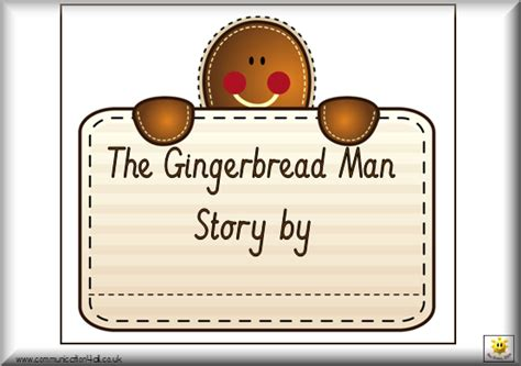 printable book of the gingerbread man man printable images