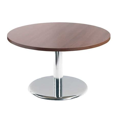 Chrome Coffee Table Base Circular Reception Coffee Table With Chrome Trumpet Base