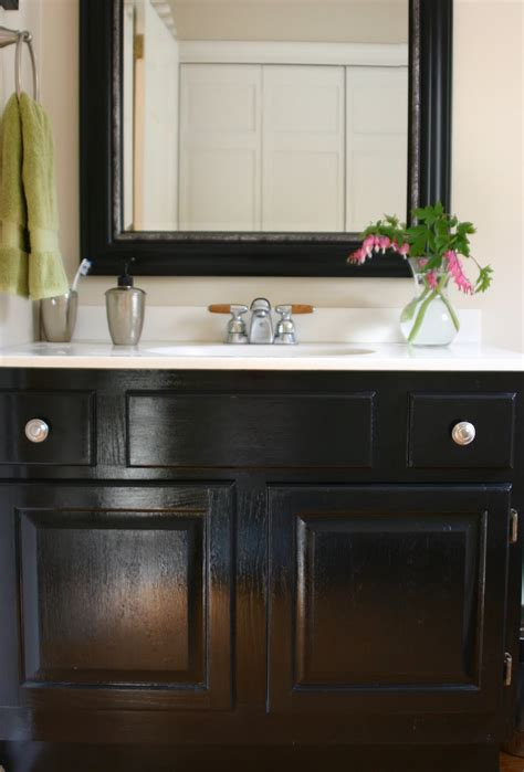 how to paint a bathroom vanity black powder room de peachificiation shine your light