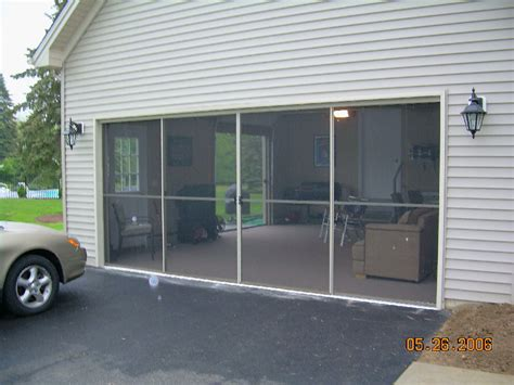 Screen Doors For Garage Garage Screen Door Patio Enclosure Installation Gallery