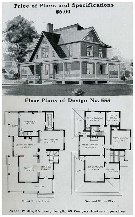 historic farmhouse plans vintage house plans 1900s a collection of other ideas to