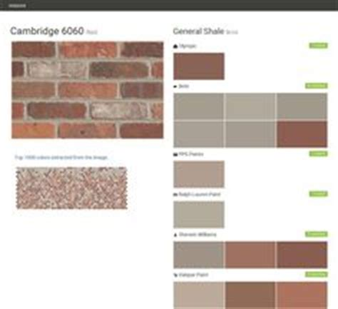 charlestown landing earth tone brick general shale behr benjamin sherwin williams