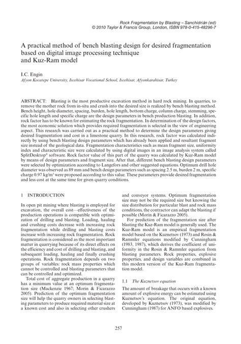 blast your bench pdf a practical method of bench blasting pdf download
