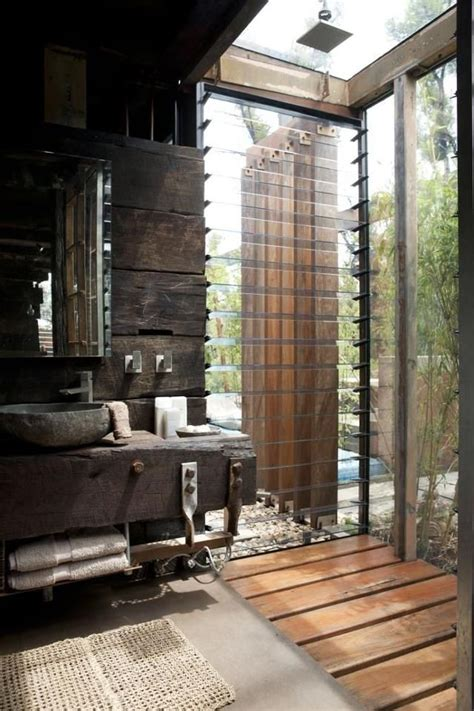 Indoor Outdoor Shower by Indoor And Outdoor Shower Bathroom