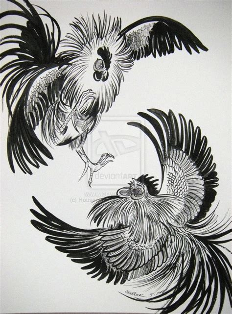fighting rooster tattoo fighting rooster drawing search things to do