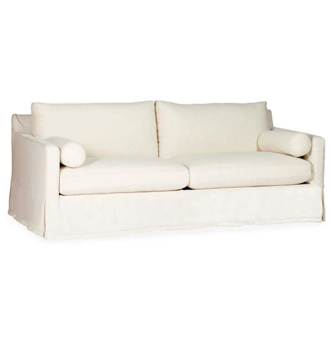 skirted sofa hayes modern cottage linen skirted banded sofa kathy kuo