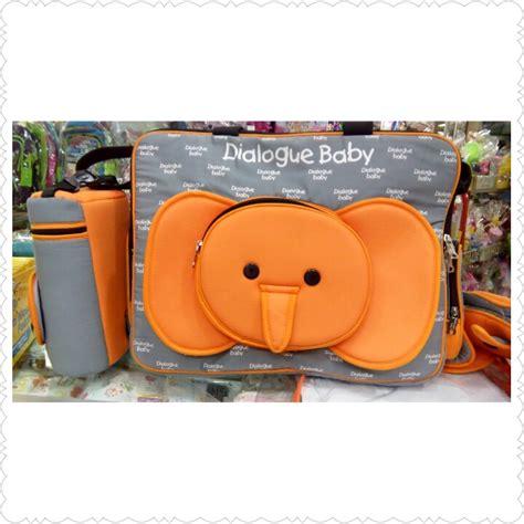 Baby Carrier Dialogue Baby Tas Plus Tbs Tempat Botol Dot Emerald Seri tas bayi besar gajah dialogue elevenia