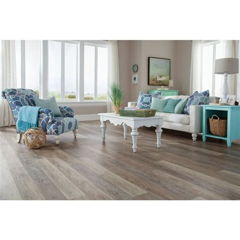 carolina living luxury floor tile shop stainmaster 10 5 74 in x 47 74 in washed oak
