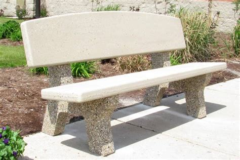concrete benches with backs 6 horizon back all concrete classic bench b4560 doty