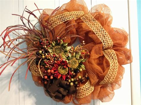 home decor wreaths tangled wreaths fall d 233 cor wreath deco mesh earth
