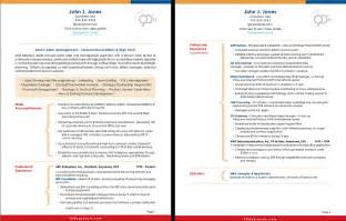 two page cv template resume exles best two page resume format free test
