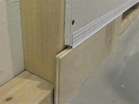create flush baseboards with architectural l bead trim architectural l bead archway trim tex drywall products