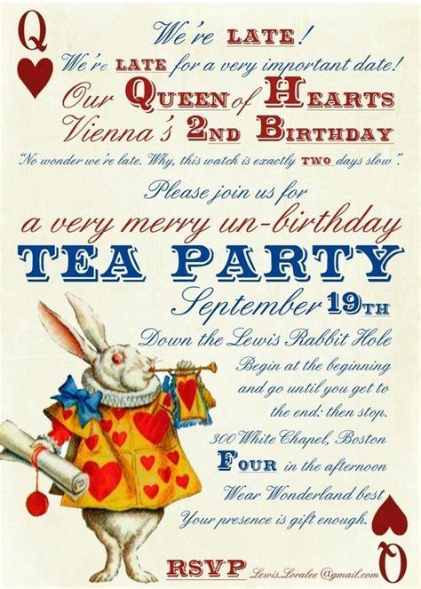 Unbirthday Card Template by In Un Birthday Tea Invitations Digital
