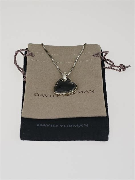 Black Onyx Titanium Pendant Necklace Pendant Choker david yurman sterling silver black onyx pave diamonds cable pendant necklace yoogi s