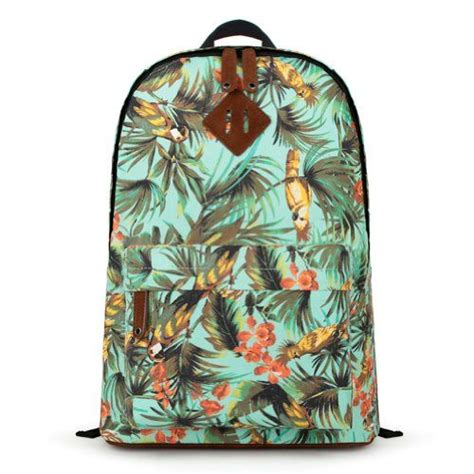 Topi Canvas Motif Ripcurl zlyc birds forest floral print canvas school backpack zlyc http www dp b00fzhbdj0