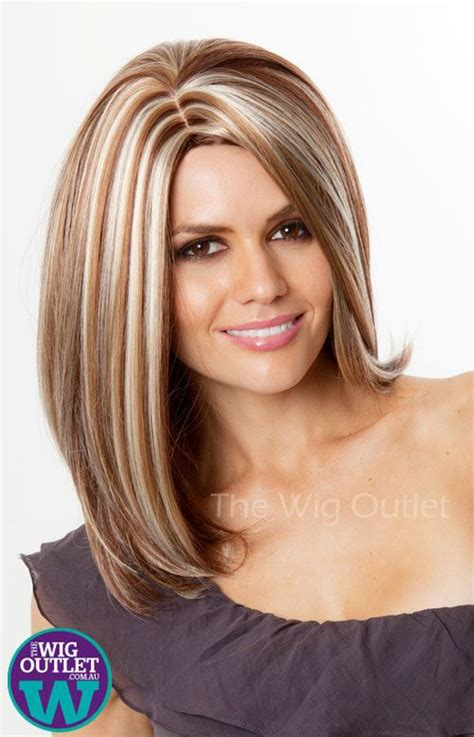 Images Of Ladies Blonde Streaked Hairstyles | auburn and chunky blonde streaks hair color ideas
