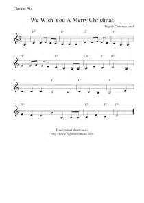 Wish you a merry christmas free christmas clarinet sheet music notes