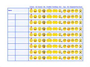 Behavior Charts For Preschoolers Template by Behavior Chart Template 12 Free Sle Exle Format