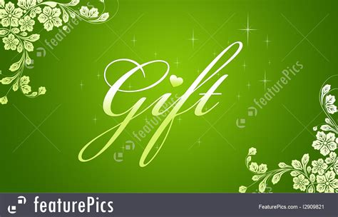 Green Gift Cards - templates green gift card stock illustration i2909821 at featurepics