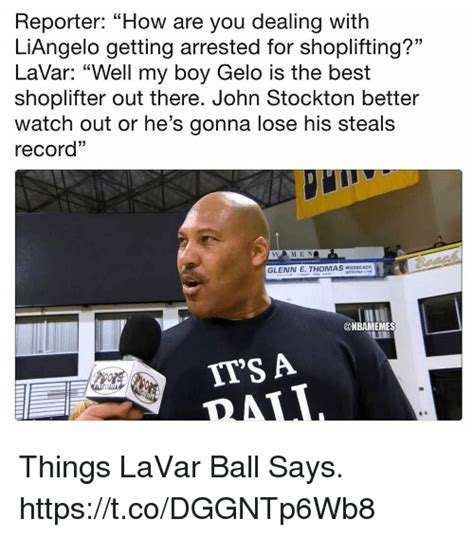 Shoplifting Meme - reporter how are you dealing with liangelo getting
