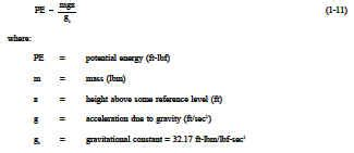 Potential Energy Equation Thermodynamic Properties