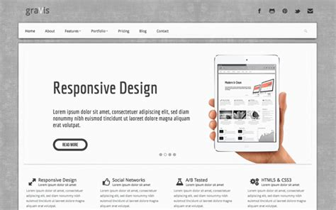 Bootstrap Themes Free Professional | gravis industrial bootstrap theme download new themes