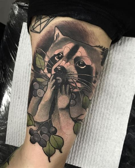 raccoon tattoo designs 1000 ideas about raccoon on
