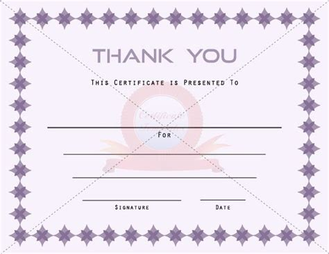 thank you certificate templates free 1000 images about certificate template on