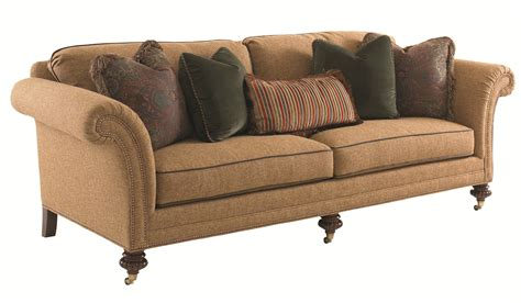 sofa casters legs tommy bahama home landara southport sofa with turned wood