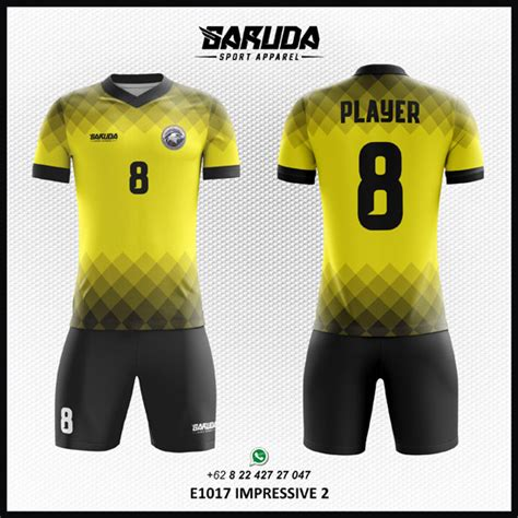 desain jersey warna kuning desain jersey futsal printing impressive garuda print