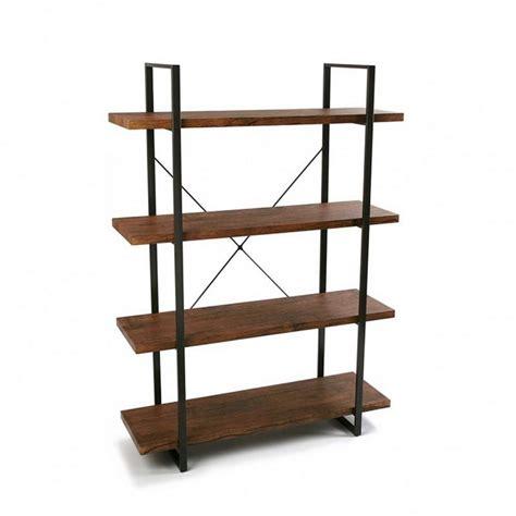 etagere noir et bois etagere 4 niveaux bois et metal noir versa