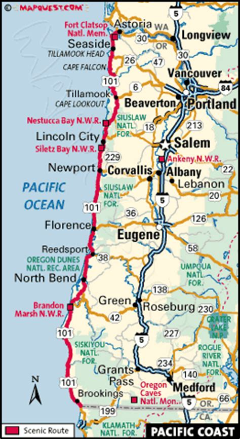 pacific coast byway map gold beach oregon